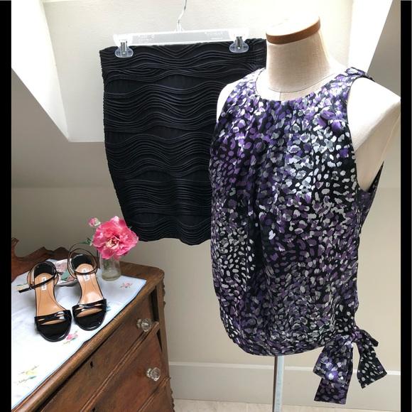 Apt. 9 Tops - Silky size S sleeveless purple, black blouse